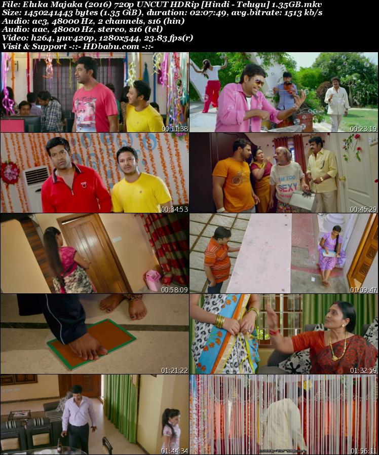 Eluka Majaka Hindi Dual Audio Full Movie Download, Eluka Majaka 2017 Hindi Dubbed Full Movie Download Free, Eluka Majaka Telugu Full Movie Hindi Dubbed UnCut 720p HDRip 1GB Hindi Dual Audio Telugu 480p HDRip Free Download MKV Mp4 HD