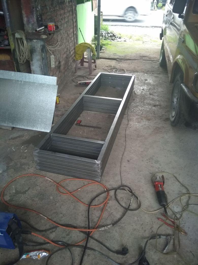 pembuatan daun pintu minimalis dari