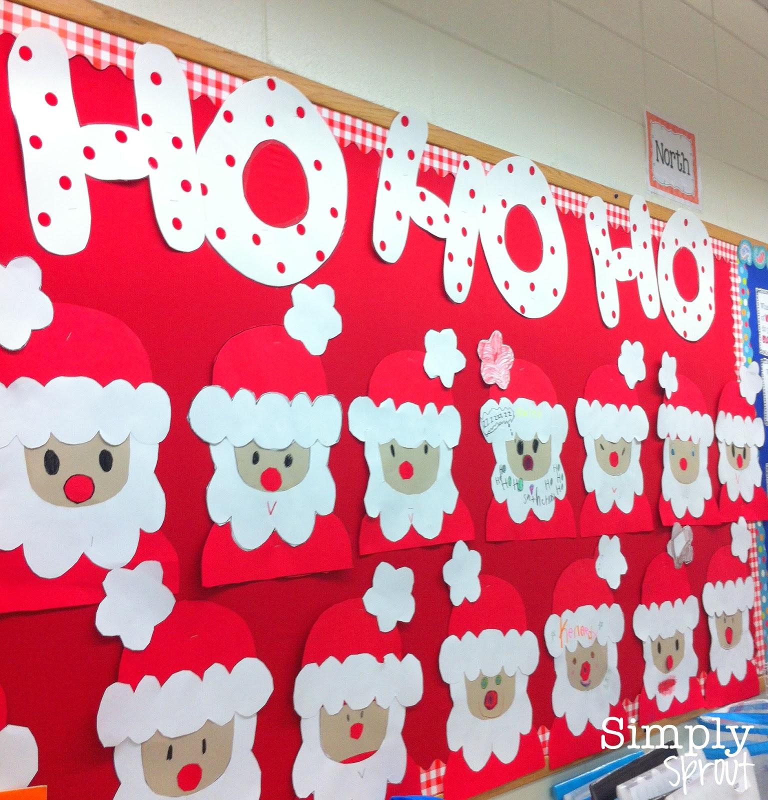 Board Decoration For Christmas: Month Of Joy: Santa Spotting