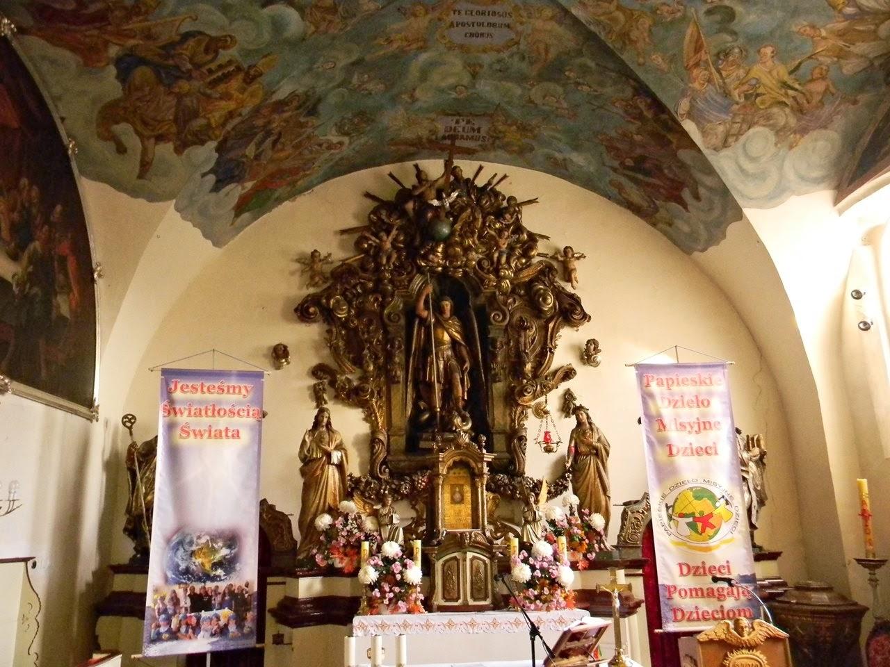 ołtarz kościoła w Kwielicach