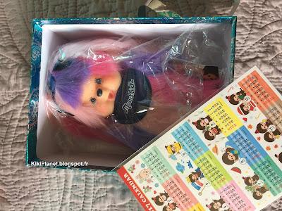 Monchhichi Am I Monchhichi Girl Pink Purple référence 234196  kiki bebichhichi
