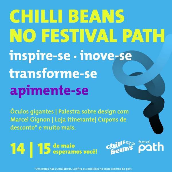 Chilli Beans patrocina Festival Path nesse final de semana em São Paulo