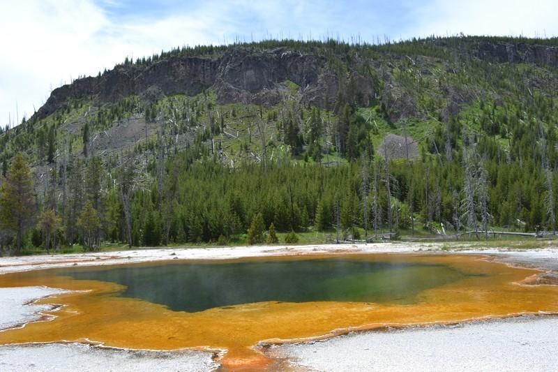 old faithful, Yellowstone, Wyoming, usa, parc, black sand bassin
