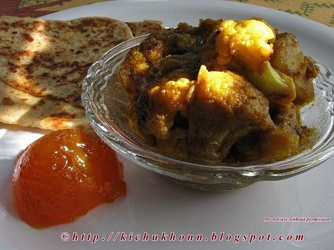 Bengali paratha and alu kopir tarkari