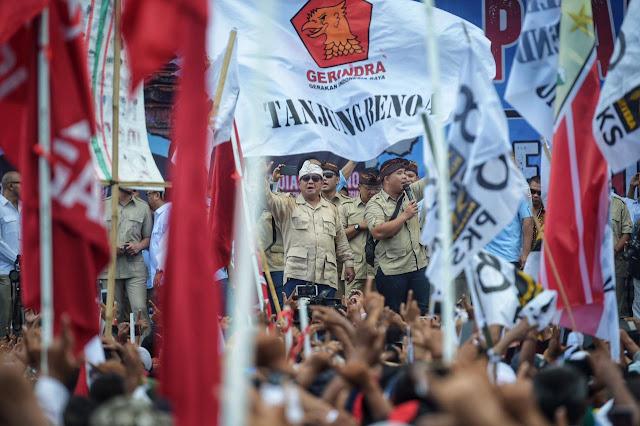 Prabowo: Banyak Partai Kepalanya Kesana, Rakyatnya Kesini