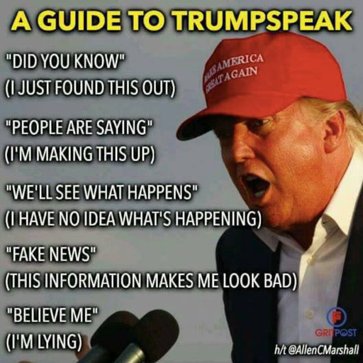 the randy report meme of the day a guide to trumpspeak