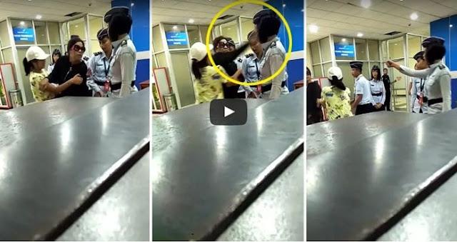 Hanya Karena Hal Sepele, Wanita yang Ngaku Istri Pejabat Ini Tega Tampar Petugas Bandara Manado!