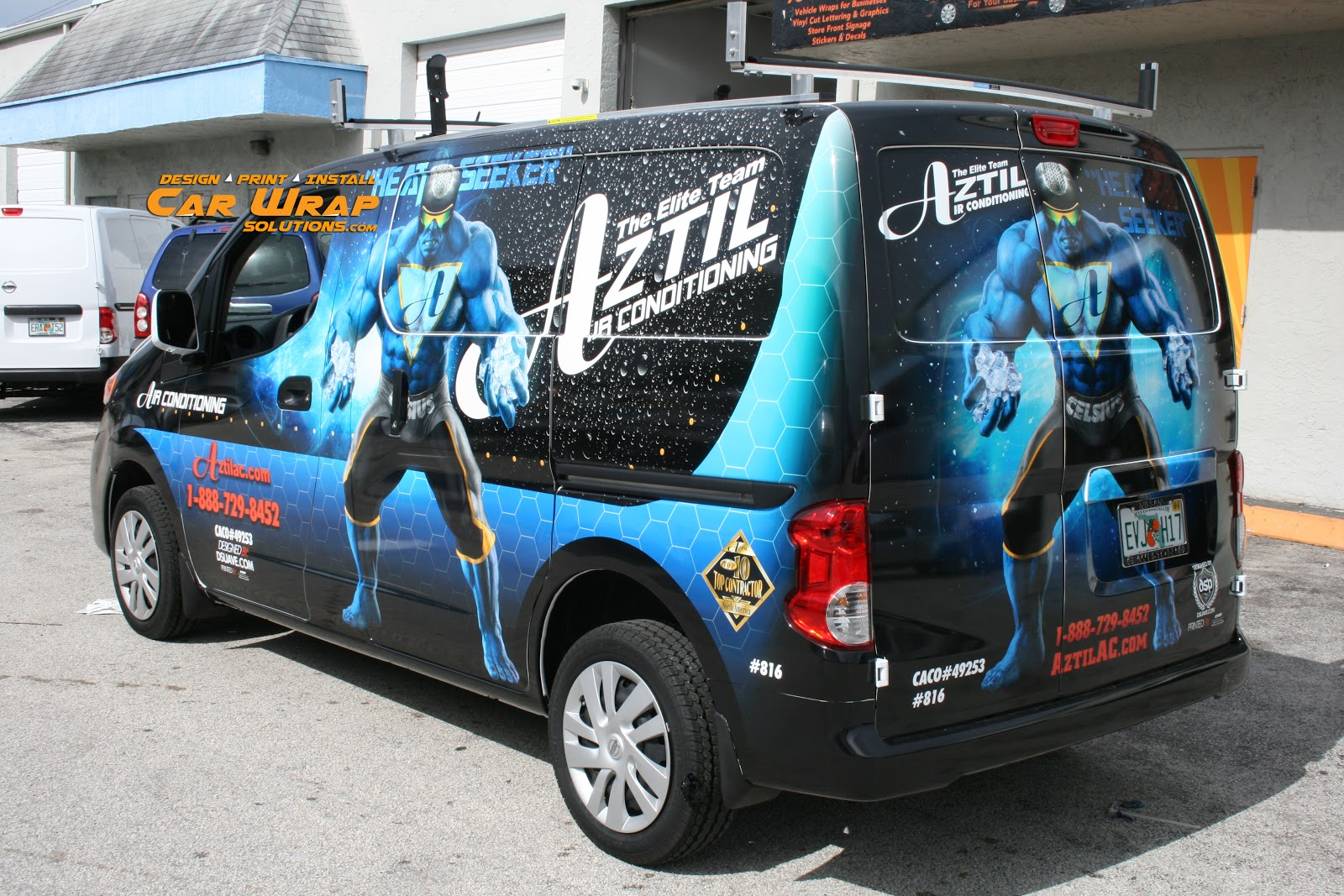 Air Conditioning Company Car Wrap Design West Palm Beach