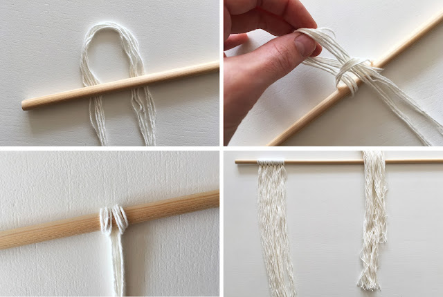 DIY string wall hanging
