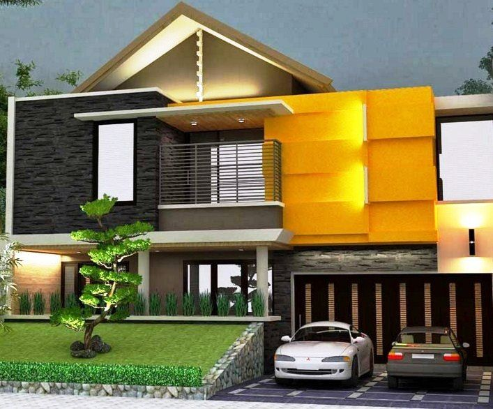 Model Desain Rumah Minimalis 2 Lantai Modern Sederhana