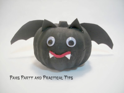 How to make a bat pumpkin