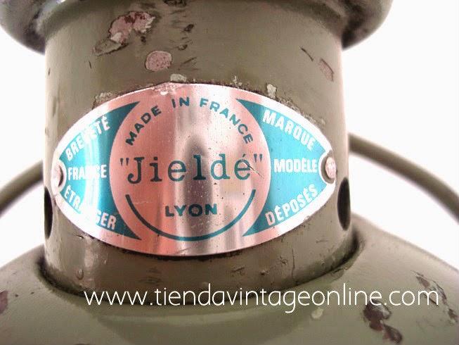 Comprar auténtica lámpara JIELDE Francia estilo industrial años 60