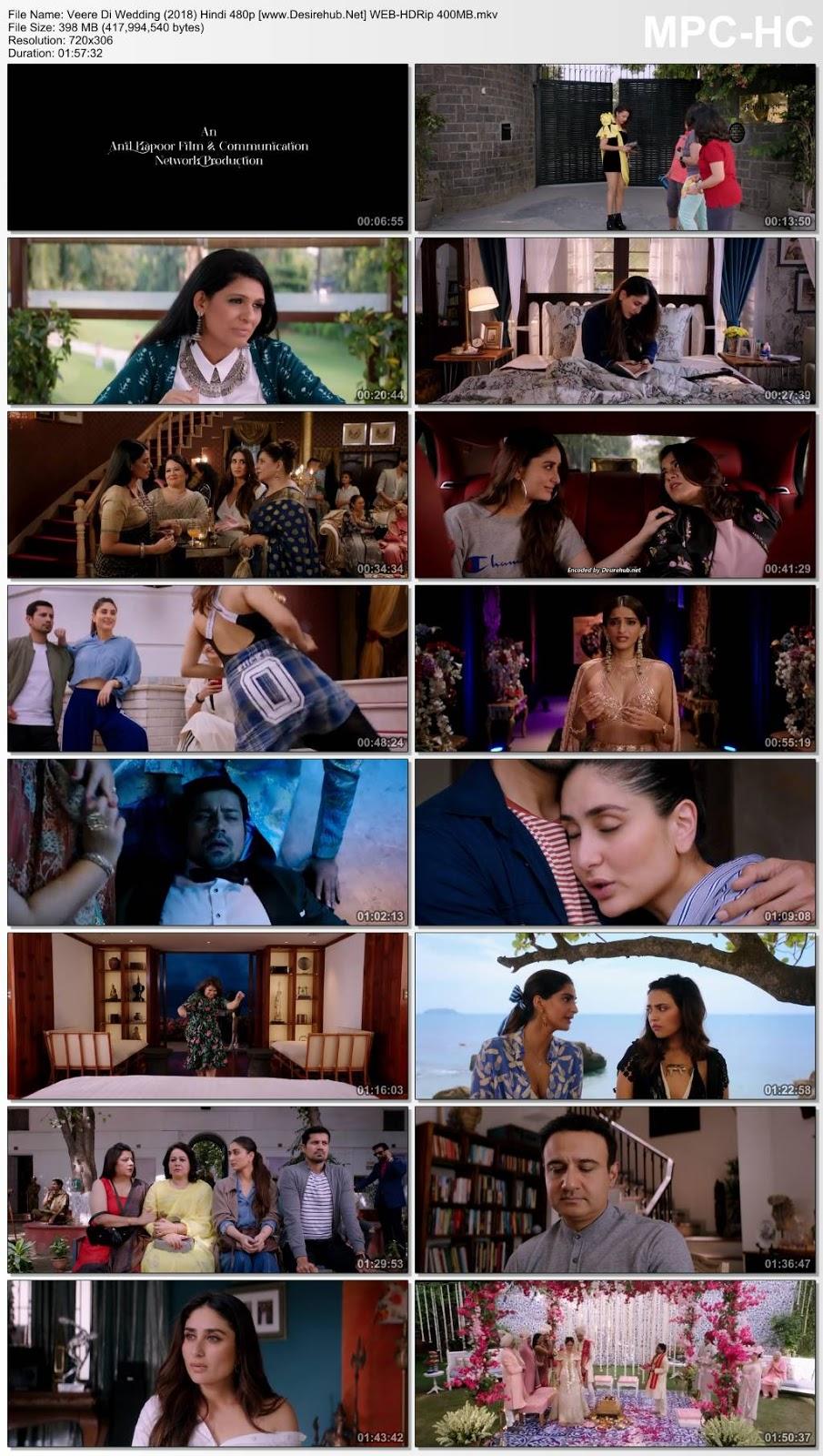 Veere Di Wedding (2018) Hindi 480p WEB-HDRip – 400MB Desirehub