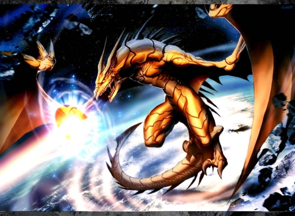 Dreamy Fantasy Outer Space Dragon Creative Wallpaper | Wallpapers