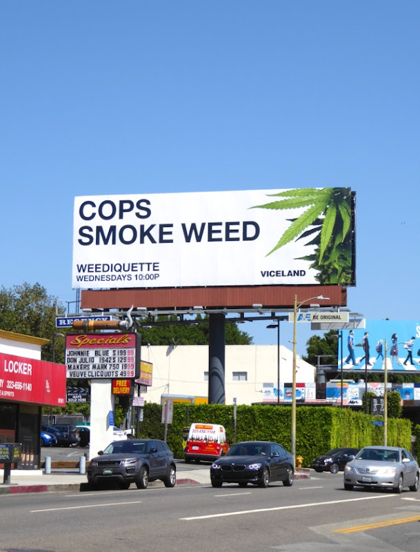 Weediquette season 2 Cops smoke weed billboard