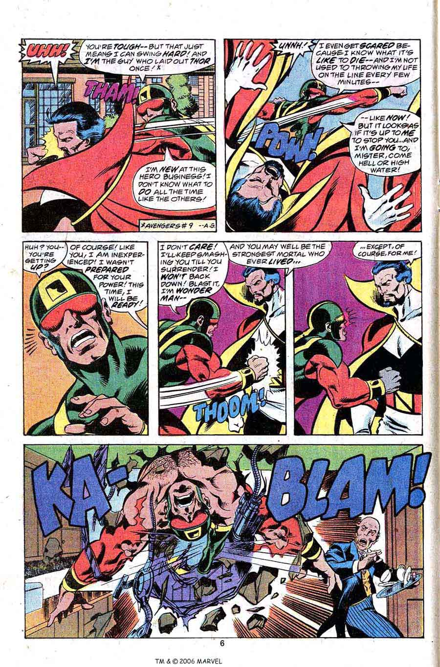 Avengers #165 marvel 1970s bronze age comic book page art by John Byrne