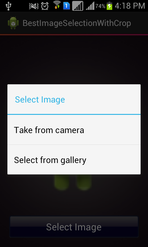 Android Tutorials and Tips: Capture OR Select from gallery