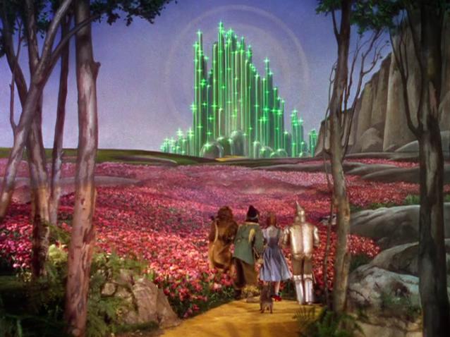 Dorothy Gale et ses amis dans Le Magicien d'Oz, de Victor Flemming (1939)