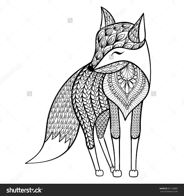 Fox Coloring Pages For Adults  Google Search