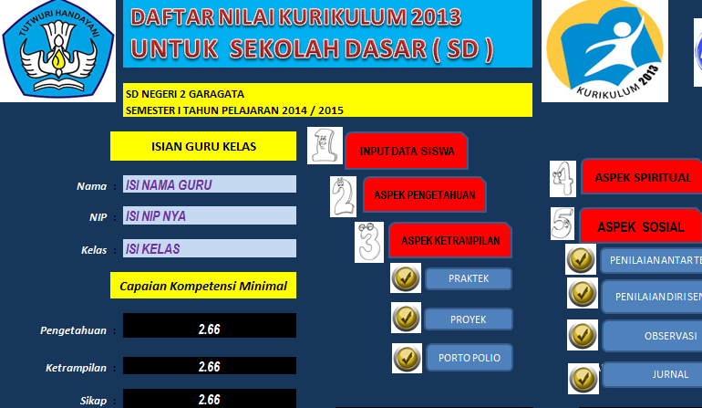 Download Aplikasi Penilaian Kurikulum 2013 Sd Smp Sma Kabar Guru