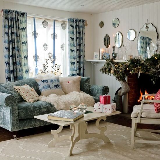 New Home Interior Design: Country Christmas Decorating Ideas