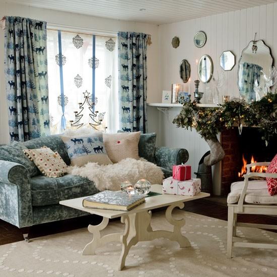 New Home Interior Design: Country Christmas Decorating Ideas