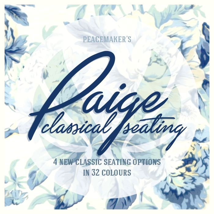 Simsational Designs Paige Classical Seating Sofa Loveseat Armchair And Wingback