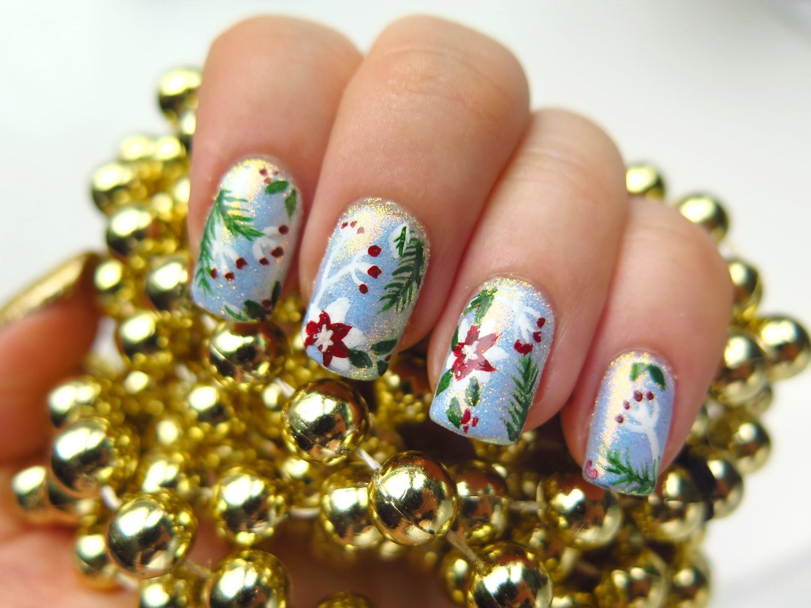 4 piękne zdobienia paznokci na święta Bożego Narodzenia