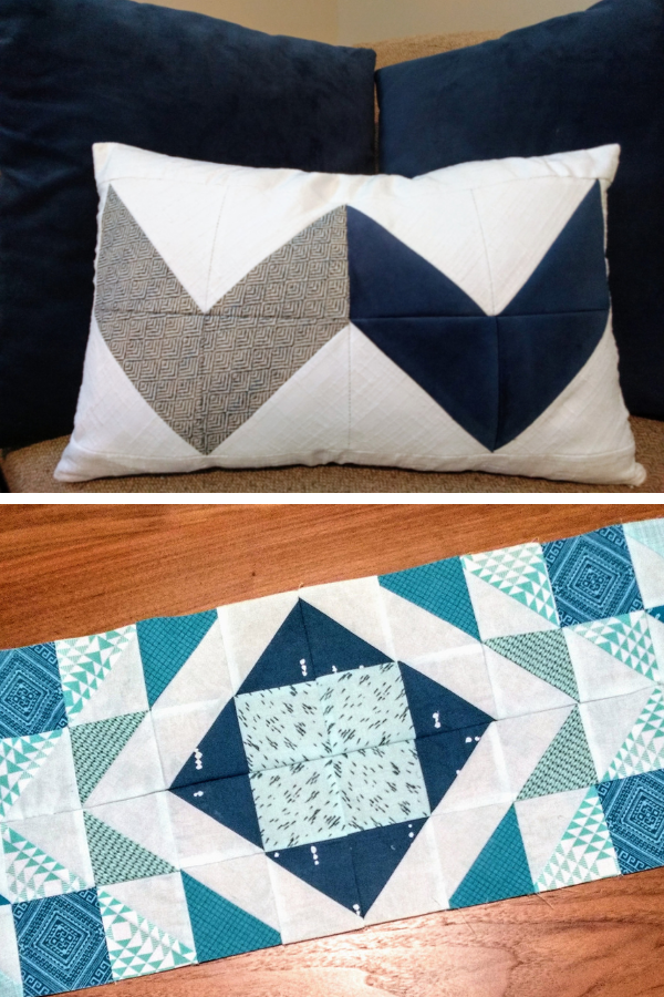 Double Chevron and Modern Aztec Table Runner made by Kelly | Shannon Fraser Designs