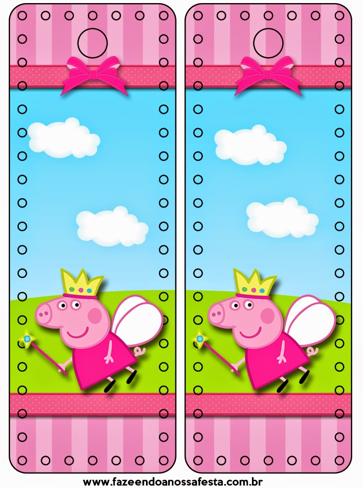 Marcapáginas de Peppa Pig para imprimir gratis.