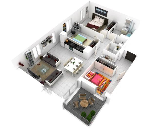 Contoh gambar sketsa denah rumah minimalis - Desain Rumah Idaman
