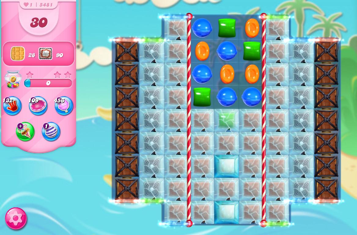 Candy Crush Saga level 5481