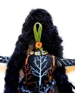 Back View of Alder Woman OOAK Spirit Doll by Jeanne Fry