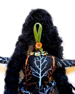 Back View of Alder Woman OOAK Spirit Doll by Jeanne Fry