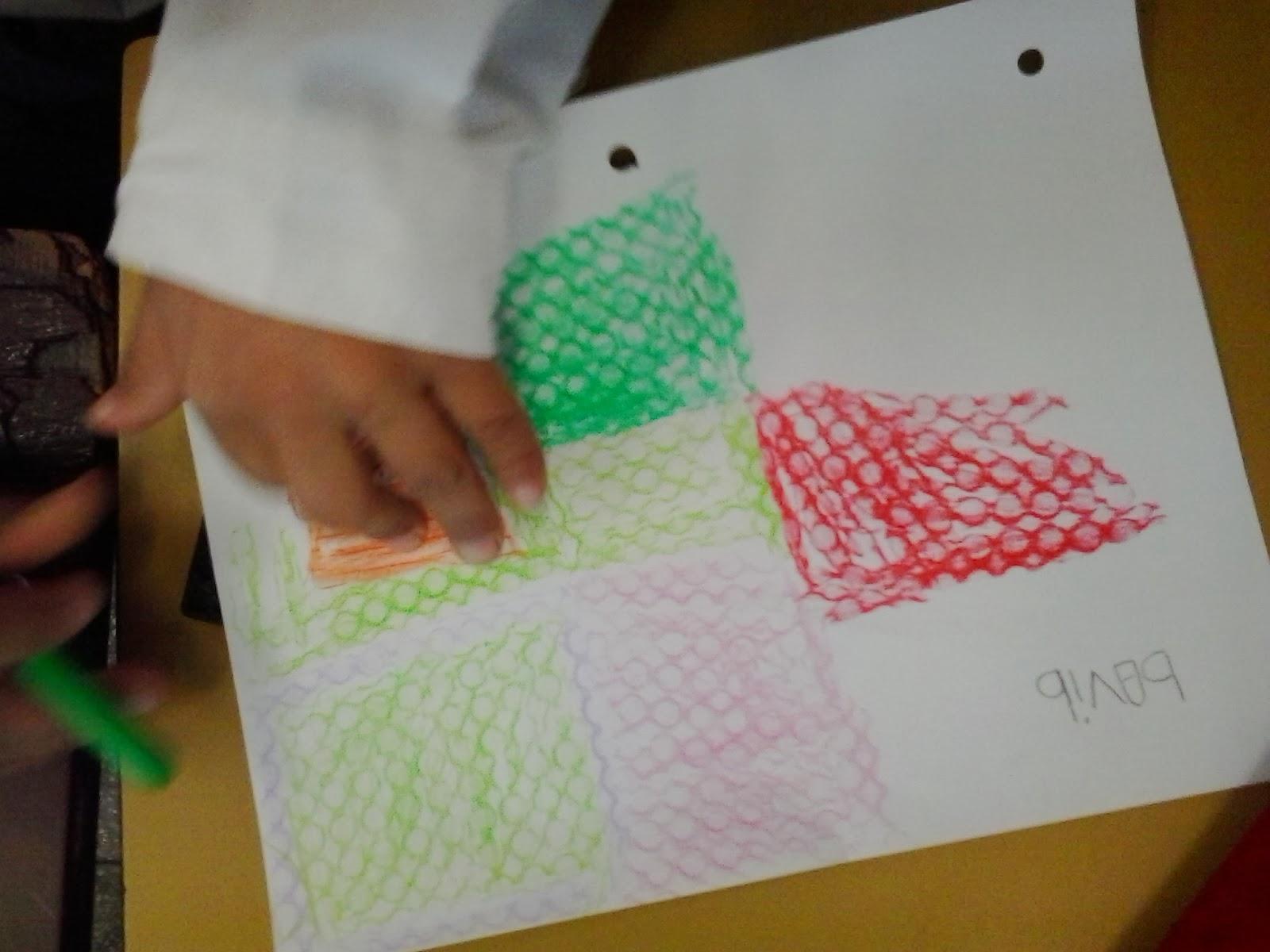 Pl 225 Stica Arte En La Escuela Textura Con Crayones