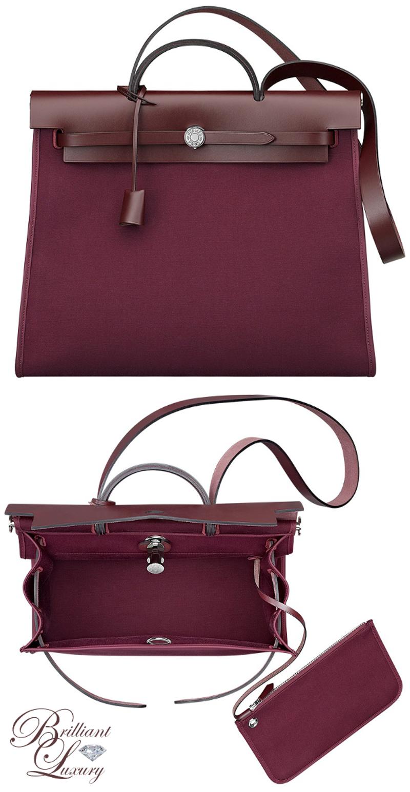 Brilliant Luxury ♦ Hermès 'Herbag Zip' Bag