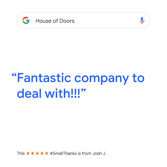 Another 5-star review for House of Doors - Roanoke, VA