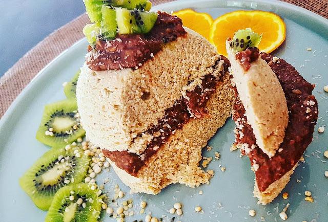 bowlcake rapide et facile protéiné farine de coco