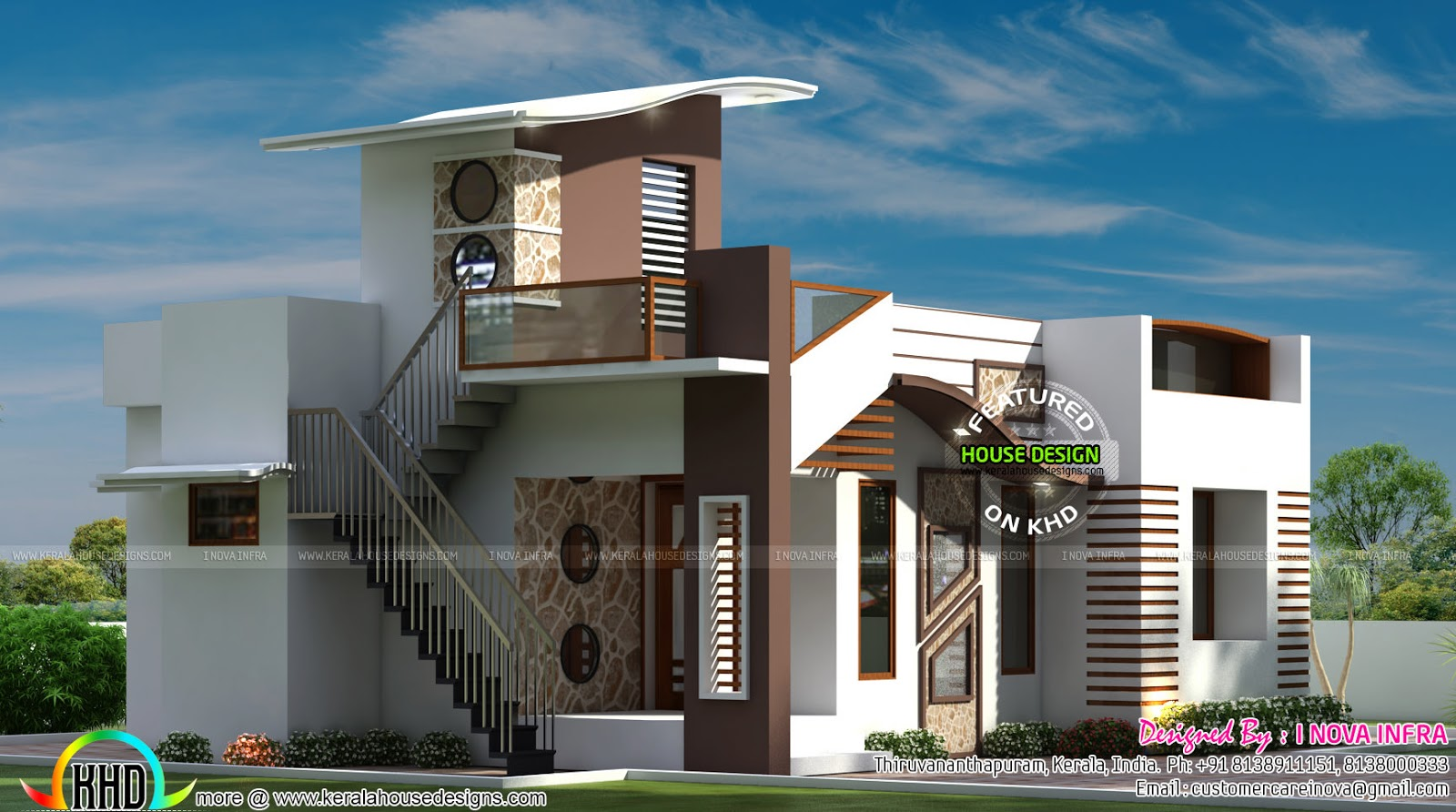 800 sq ft budget contemporary house kerala home design Modern square house