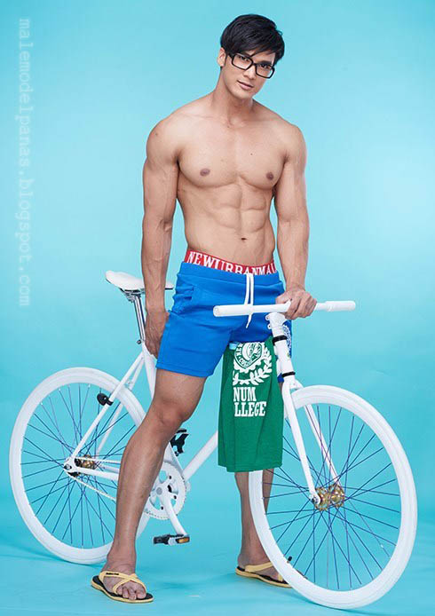 hot guy with bycycle