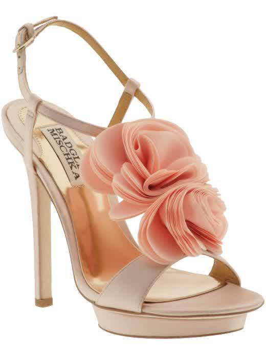 Badgley Mischka Playful Blush Wedding Shoes