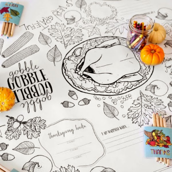 Ideas For Your Kids' Thanksgiving Table @ Blissful Roots