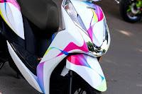 Sơn xe Honda Lead dãi chuyển màu cực đẹp
