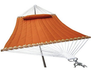 Airblasters Double Soft Cotton Fabric Hammock Burnt Orange Color with Pillow, Backyard Hammocks, Best Hammocks For Sale, Camping Hammocks, Hammocks On Sale, Hammocks With Stand, Indoor Hammocks, Portable Hammocks, Rope Hammocks, Stationary Hammocks, Steel Hammocks, Wooden Hammocks,