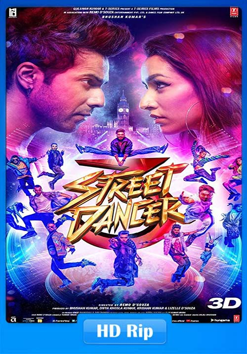 STREET DANCER 3D 2020 Hindi 720p WEBRip ESub x264 | 480p 300MB | 100MB HEVC Poster