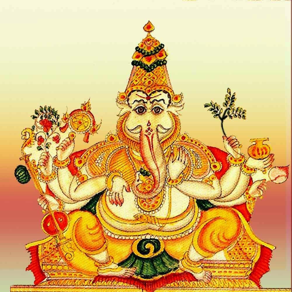 Gaja-Kesari Yoga, Guru-Chandra Yoga, SImha Ganapathi, சிம்ம கணபதி