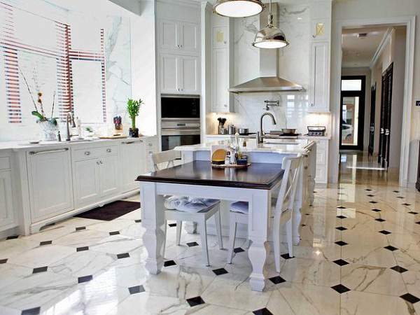 Desain lantai keramik dapur