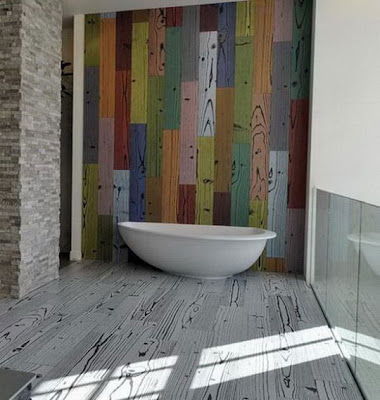 diseño de baño con bañera
