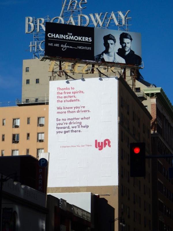 Lyft Thanks to billboard