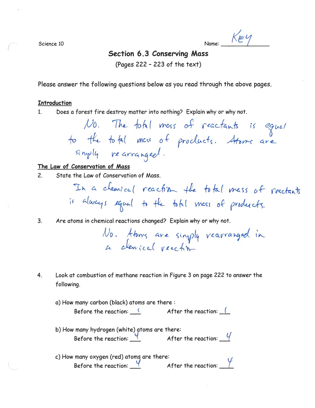 Writing Word And Skeleton Equations Worksheet Answers